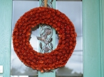 Bright entry door wreath