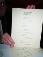 Terrace Room menu